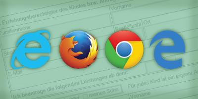 Formulare im Browser öffnen