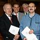 OB Dr. Thomas Jung hat Hans Ammon und Karl Track für ihr ehrenamtliches Engagement mit dem Ehrenbrief der Stadt Fürth ausgezeichnet.