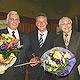 OB Dr. Thomas Jung zeichnete Hans Moreth und Ferdinand Metz für 40-jährige ehrenamtliche Stadtratstätigkeit aus.