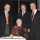 """Ruth Weiss, Georg Huber (""""Billiger Jakob"""") und Professor Hubert Weiger erhielten das Goldene Kleeblatt für herausragende Leistungen."""