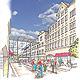 Ein portugiesischer Konzern will 150 Millionen Euro investieren und ein individuell gestaltetes Einkaufszentrum in der Innenstadt errichten.