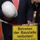 Zum Sanierungsbeginn war Innenminister Herrmann gekommen. Die frühere Quelle-Hauptverwaltung wird zum Sitz des Landesamtes für Statistik.