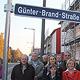 Zehn Jahre seinem Tod wurde eine Straße in Stadeln nach dem beliebten Bürgermeisters Günter Brand benannt.