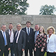 OB Thomas Jung und Vertreter des Fürther Stadtrates haben Limoges besucht, um den neu gewählten Amtskollegen Emile-Roger Lombertie zu treffen.