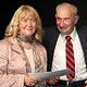 Rektorin Ingrid Streck wurde für ihr außergewöhnliches Engagement in Sachen Migration geehrt – und Walter Kissinger gratulierte persönlich.