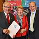 Für sein jahrzehntelanges Engagement hat Walter Köhler im Rahmen den Ehrenbrief der Stadt Fürth erhalten.