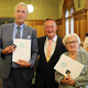 Marianne Ecker engagiert sich seit 70 Jahren ehren- amtlich und Hans Partheimüller hat sich als Geschäfts- führer der infra zum Wohl der Stadt verdient gemacht.
