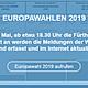 Informationen zu den Ergebnisse der Wahlen zum Europäischen Parlament in der Kleeblattstadt.
