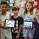 An der Hans-Sachs-Grundschule in Stadeln erlernen die Kinder der Klasse 3 / 4 b den Unterrichtsstoff mit Unterstützung neuester Technik.