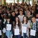 """52 Jugendliche nahmen dieses Jahr erfolgreich am schulbegleitenden Projekt """"Check Out"""" teil und erhielten jetzt ihre Zertifikate."""