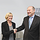 Eine Ära geht zu Ende: Günther Meth ist in den Ruhestand gegangen. Neue Geschäftsführerin des Jobcenters ist seit Jahresbeginn Carola Pfaffinger.