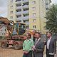 Die städtische WBG Fürth hat mit dem Neubau eines Mehrfamilienhauses auf der Hardhöhe begonnen, das im April 2013 bezugsfertig sein soll.