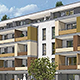 """Auf dem ehemaligen Tucher-Areal errichtet die BayernCare die Seniorenwohnanlage """"Hopfengärten"""" mit 41 Wohnungen für ältere Menschen."""