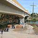 Großer Spatenstich für die neue, 83 Meter lange  Geh- und Radwegbrücke zwischen den Ortsteilen Stadeln und Eigenes Heim