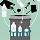 Die Stadt Fürth testet aktuell Pfandringe in der Innenstadt. Ein Vorteil: Sammlerinnen und Sammler brauchen nicht im Müll nach Pfandflaschen suchen.