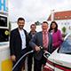Die bundesweit 68. und in Fürth erste Tankstelle für E-Autos mit Brennstoffzelle ist in der Hans-Vogel-Straße in Betrieb genommen worden.