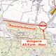 Die Arbeiten werden voraussichtlich sechs Wochen andauern und erstrecken sich bis kurz vor die Kreuzung mit der Würzburger Straße.