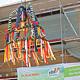 Auf der Hardhöhe eröffnet voraussichtlich im September ein neuer Bio-Fachmarkt. Dieser Tage wurde das Richtfest für das Gebäude gefeiert.