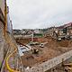 Baukräne auf dem Wölfel-Areal markieren den Beginn der Hochbauarbeiten für den Neubau der