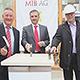 Obwohl die Bauarbeiten schon auf Hochtouren laufen, fand heute die offizielle Grundsteinlegung für die Neue Mitte Fürth statt.