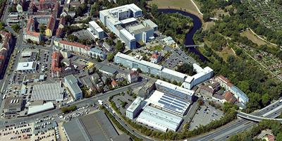 Gesamtfläche circa 7,9 Hektar <br>Im Osten des Stadtgebietes<br><I>Foto: Nürnberg Luftbild, Hajo Dietz</I>